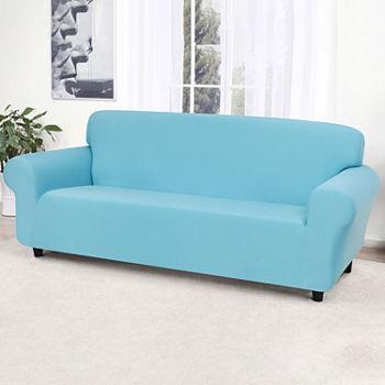 Sensational Stretch Jersey Sofa Slipcover Spiritservingveterans Wood Chair Design Ideas Spiritservingveteransorg