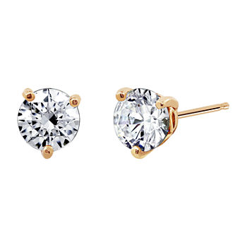 DiamonArt® 1 7/8 CT. T.W. White Cubic Zirconia Sterling Silver Stud Earrings