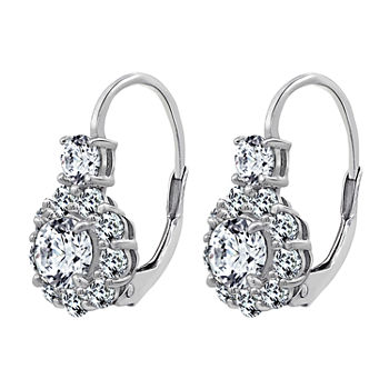 DiamonArt® 2 1/2 CT. T.W. White Cubic Zirconia Sterling Silver Drop Earrings