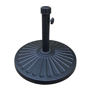 Fluted Black Patio Umbrella Base