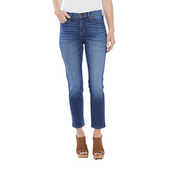a.n.a Womens High Rise Straight Leg Jean