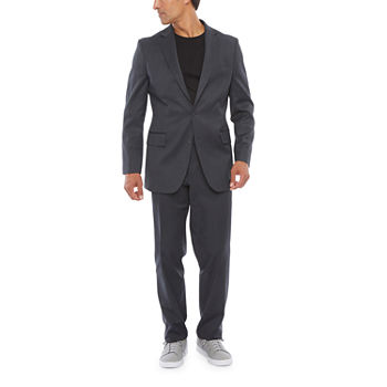 Stafford Charcoal Washable Tech Classic Fit Suit Separates