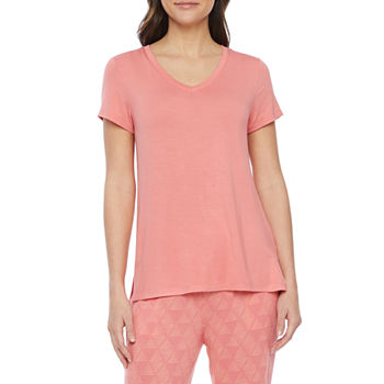 Ambrielle Womens Pajama Top V Neck