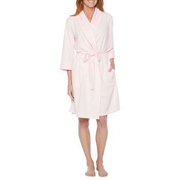 Liz Claiborne Womens Knit Robe 3/4 Sleeve Knee Length