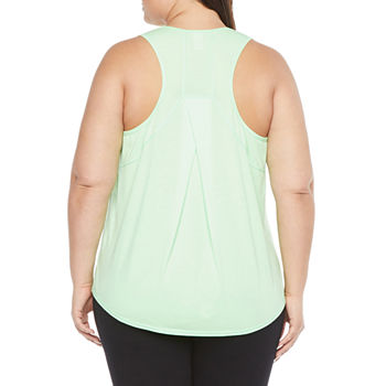 Xersion Womens Crew Neck Sleeveless Tank Top Plus