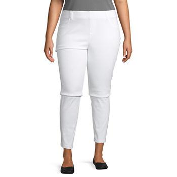 0b6b485efcd Plus Size White Leggings for Women - JCPenney