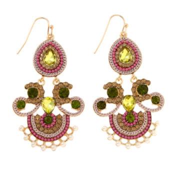 Asstd Private Brand Green Drop Earrings