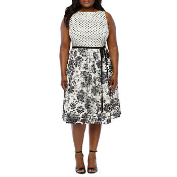ce173ae0a2f1f Plus Size Fit & Flare Dresses Shop All Products for Shops - JCPenney
