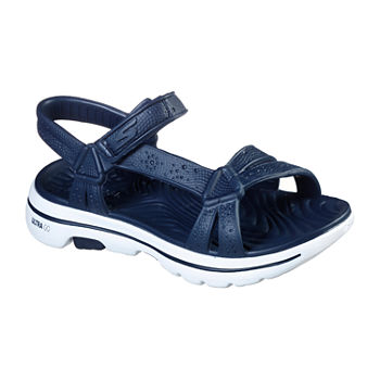 Skechers Go Walk 5 Cali Gear Tahiti Womens Footbed Sandals