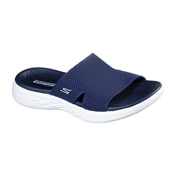 Skechers On The Go 600 Oceanside Womens Footbed Sandals