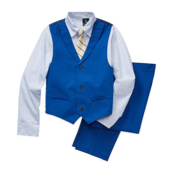 Steve Harvey Little & Big Boys 4-pc. Suit Set