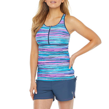 Free Country Striped Tankini Swimsuit Top or Swimsuit Bottom