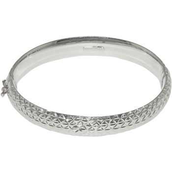 Sterling Silver Diamond Cut Bangle Bracelet