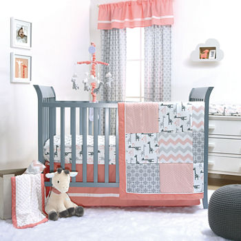 the peanut shell uptown girl 3 pc crib bedding set - Baby Girl Bedding Sets
