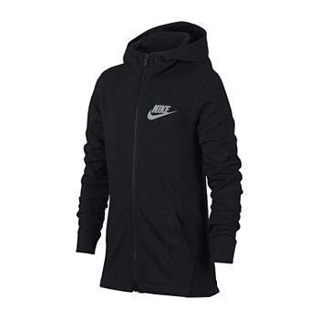 Nike Fleece Full-Zip Hoodie Preschool Dark Grey Heather
