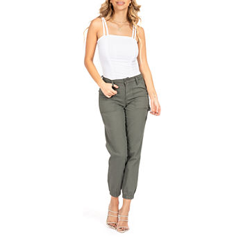 Ymi Juniors Womens High Rise Relaxed Fit Jogger Pants