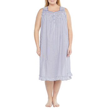 Adonna Womens Plus Nightgown Sleeveless