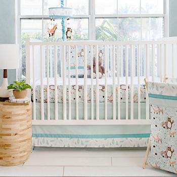 My Baby Sam Forest Friends 3 Pc Crib Bedding Set