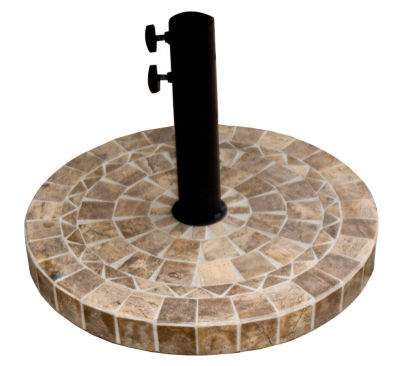 outdoor interiors 20 in round brown marble umbrella base - Patio Umbrella Base