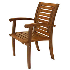 Outdoor Interiors Luxe Arm Chair in Brazilian Eucalyptus