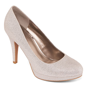 c1fb993872 Pumps Shoes Silver The Wedding Shop for Women - JCPenney