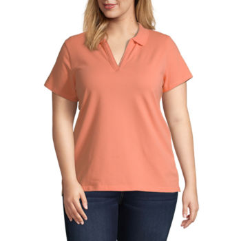 Plus Size Pink Tops For Women Jcpenney