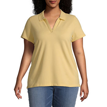 d2bebee0f0e Plus Size Yellow Tops for Women - JCPenney