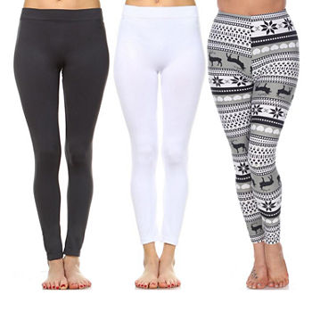 White Mark Womens Full Length Leggings