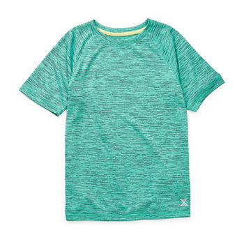 Xersion Everair Little & Big Boys Crew Neck Short Sleeve T-Shirt