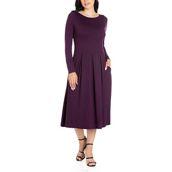 a5385cdb070 Pleated Purple Dresses for Women - JCPenney