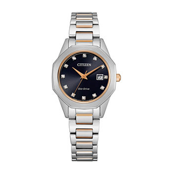 Citizen Corso Womens Diamond Accent Two Tone Stainless Steel Bracelet Watch - Ew2586-58e