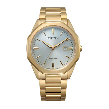 Citizen Corso Mens Gold Tone Stainless Steel Bracelet Watch - Bm7492-57a