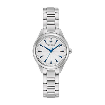 Bulova Sutton Womens Silver Tone Stainless Steel Bracelet Watch - 96l285
