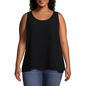 ac0a77f3653e0 Worthington Black Tops for Women - JCPenney