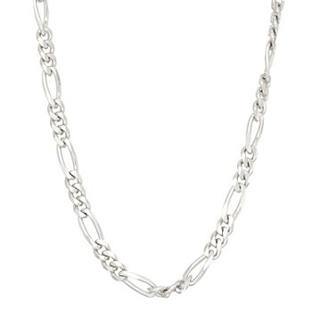 Sterling Silver 18 Inch Solid Figaro Chain Necklace
