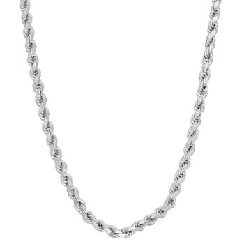 Sterling Silver 20 Inch Solid Rope Chain Necklace