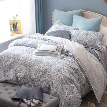 block deals on comforter pc set colored gray sets cream shop king painterly nate berkus and color great white