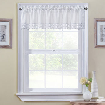 Regent Tailored Rod-Pocket Kitchen Valance