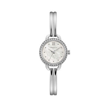 Caravelle Designed By Bulova Womens Silver Tone Stainless Steel Bracelet Watch - 43l213
