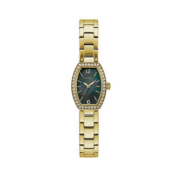 Caravelle Designed By Bulova Womens Gold Tone Stainless Steel Bracelet Watch - 44l246