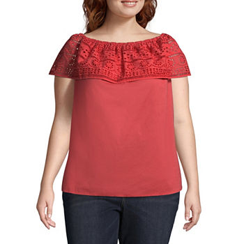 b9c3fdabb97 CLEARANCE Plus Size Tops for Women - JCPenney
