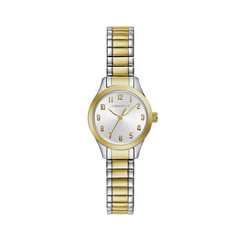 Caravelle Designed By Bulova Womens Two Tone Stainless Steel Bracelet Watch - 45l177