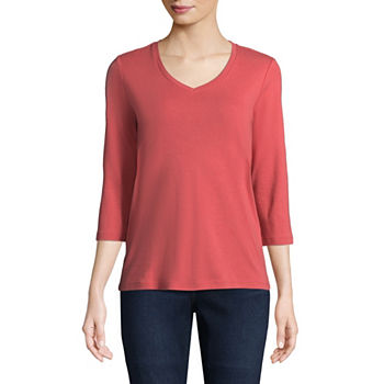 899415d7484f93 St. John's Bay 3/4 Sleeve Tops for Women - JCPenney