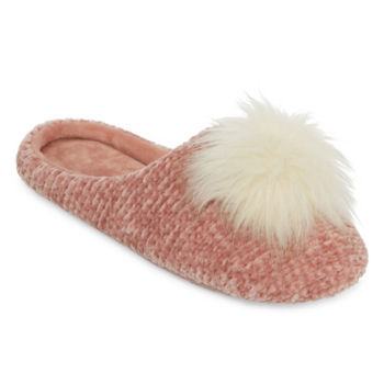 Image result for Mixit Chenille Pom Slip-On Slippers