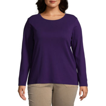 Plus Size Purple Tops For Women Jcpenney