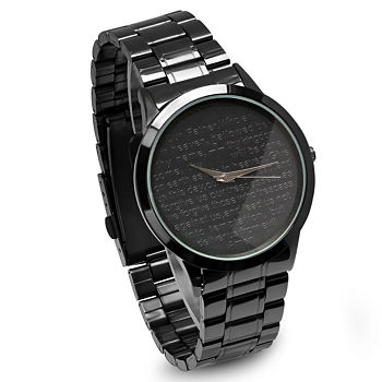 Steeltime Mens Lord's Prayer Black Bracelet Watch-B80-011-W