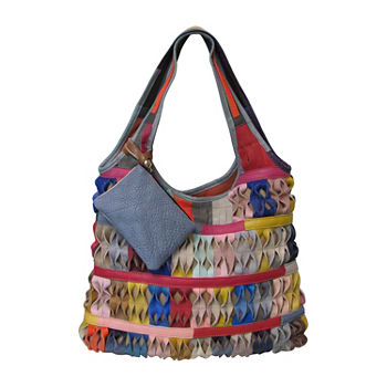 35e77f173658 Amerileather Miao Leather Handbag. Add To Cart. Rainbow. BEST VALUE!