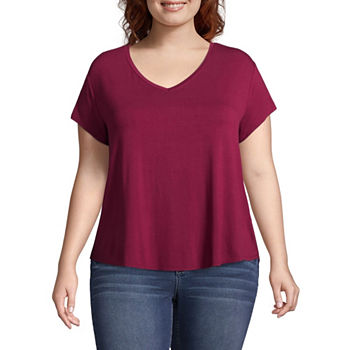 a4d300f763b2 Juniors Plus Size Red Tops for Women - JCPenney