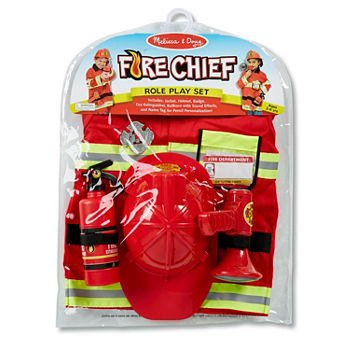 Melissa & Doug Fire Chief Role Play Set Unisex Costume