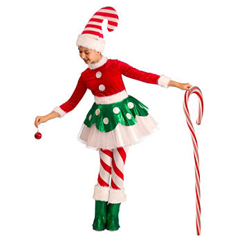 Candy Cane Elf Princess Child Costume Girls Costume Girls Costume